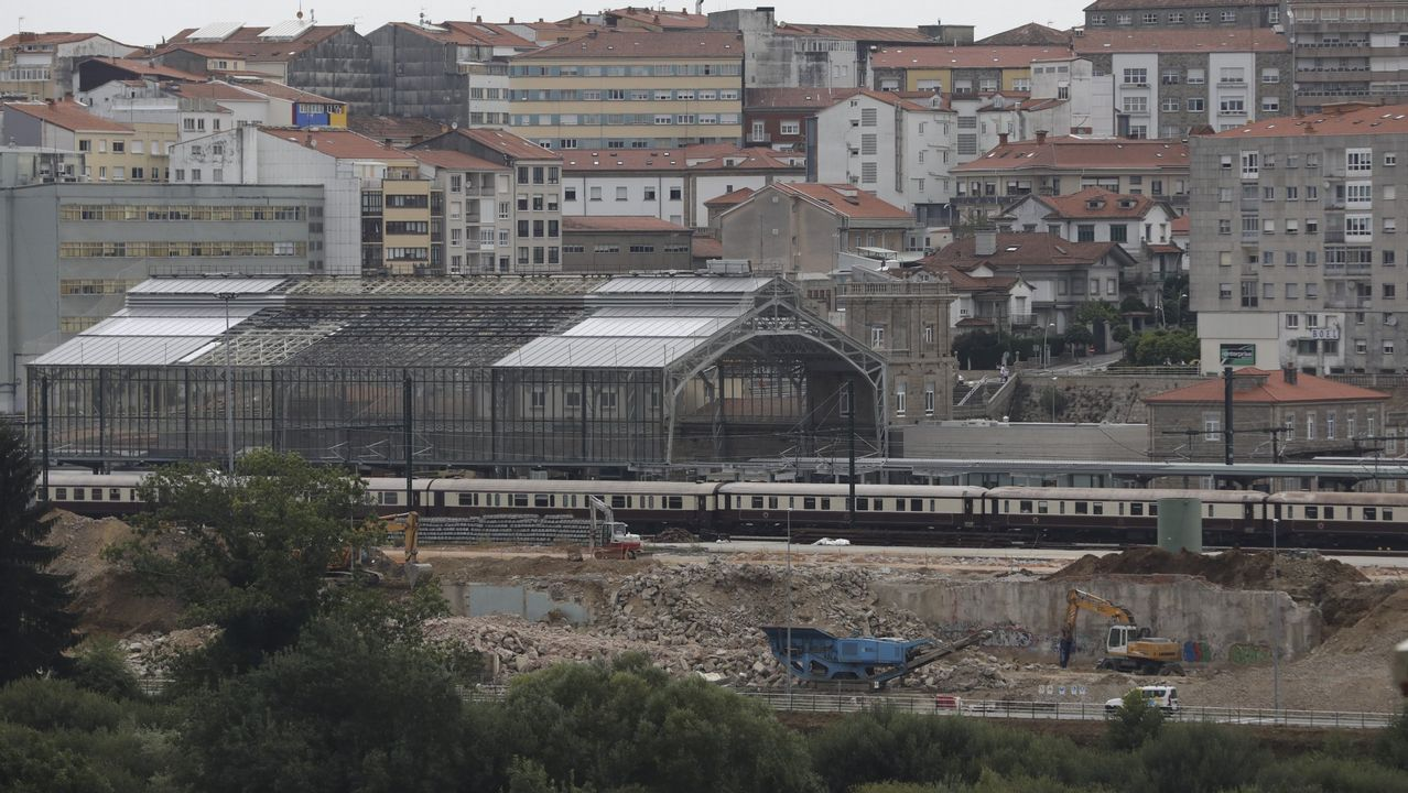 Visitantes en la Torre de Hércules, en A Coruña