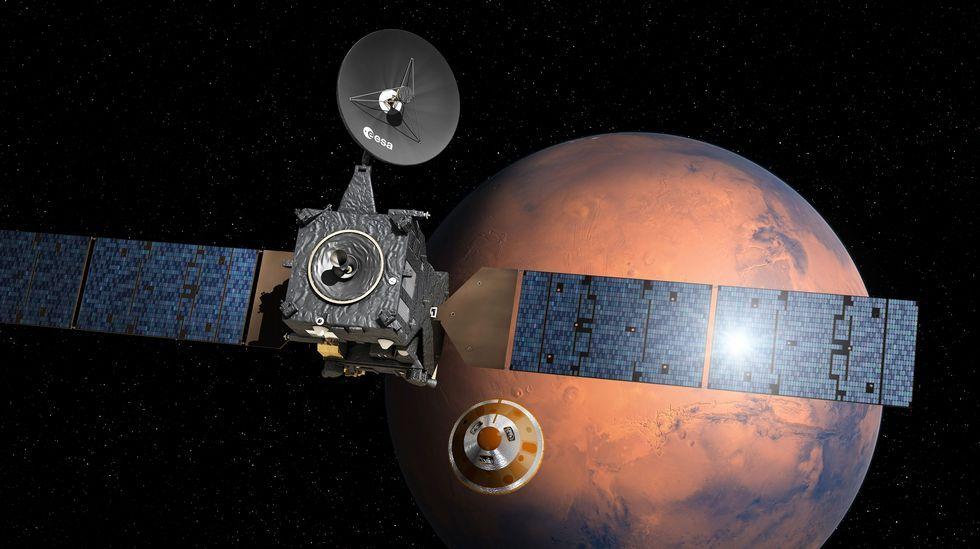 Así desciende «Schiaparelli» hacia Marte