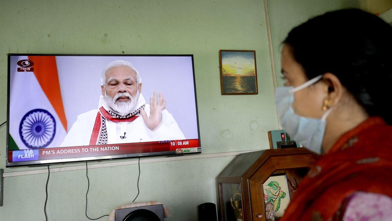 Narendra Modi en su comparecencia televisiva