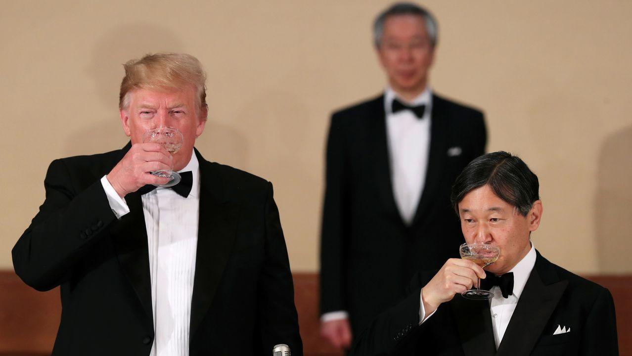 El presidente Trump es el primer líder extranjero que recibe Naruhito desde su ascenso al trono