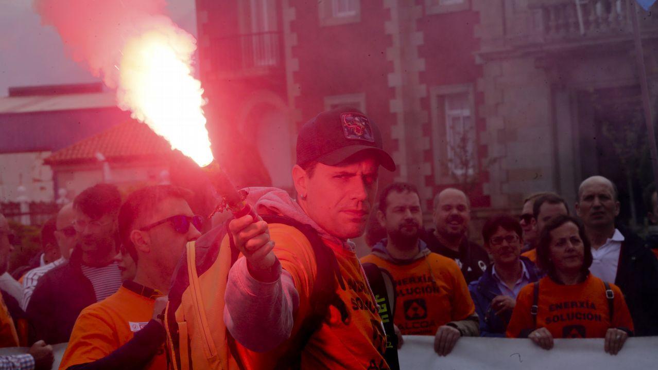 Manifestación de Alcoa en A Coruña