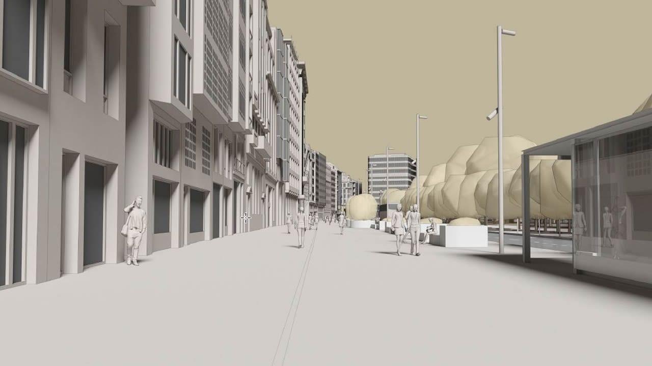 En la parte final del Cantón también se ganará mucho espacio para los peatones cuando terminen las obras.