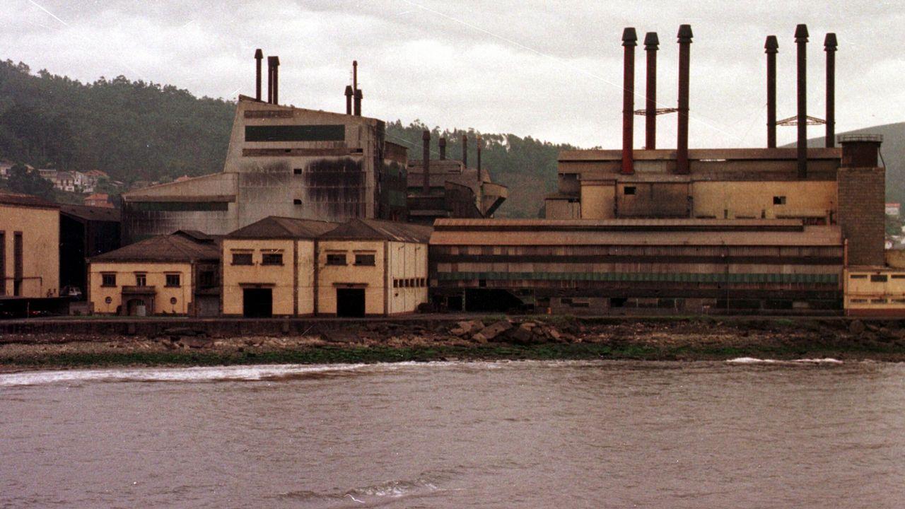 Fábrica de Ferroatlántica en el polígono de Sabón
