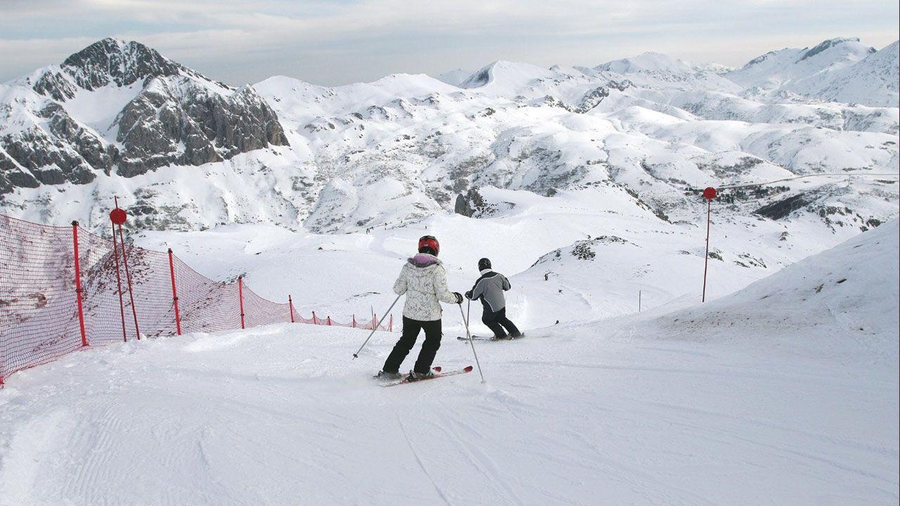 Esquí en Asturias.Fuentes de Invierno
