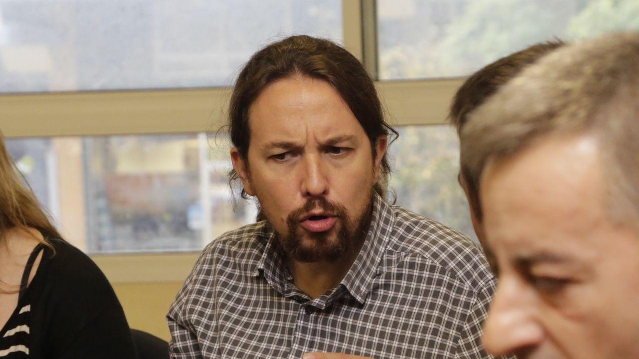 Pablo Iglesias comparece tras la filtración del documento de Bescansa.Héctor Piernavieja