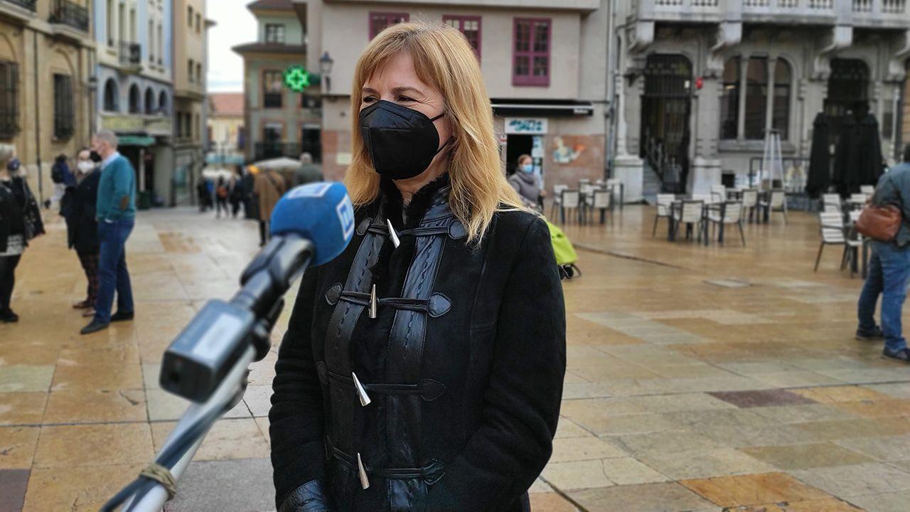 Las condiciones deplorables en las que se encuentran las vacas.Marisa Ponga, concejala del PSOE en el Ayuntamiento de Oviedo