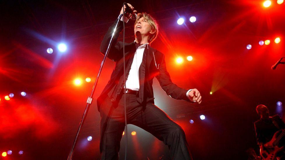 Concierto de David Bowie en Noruega en el año 2002.