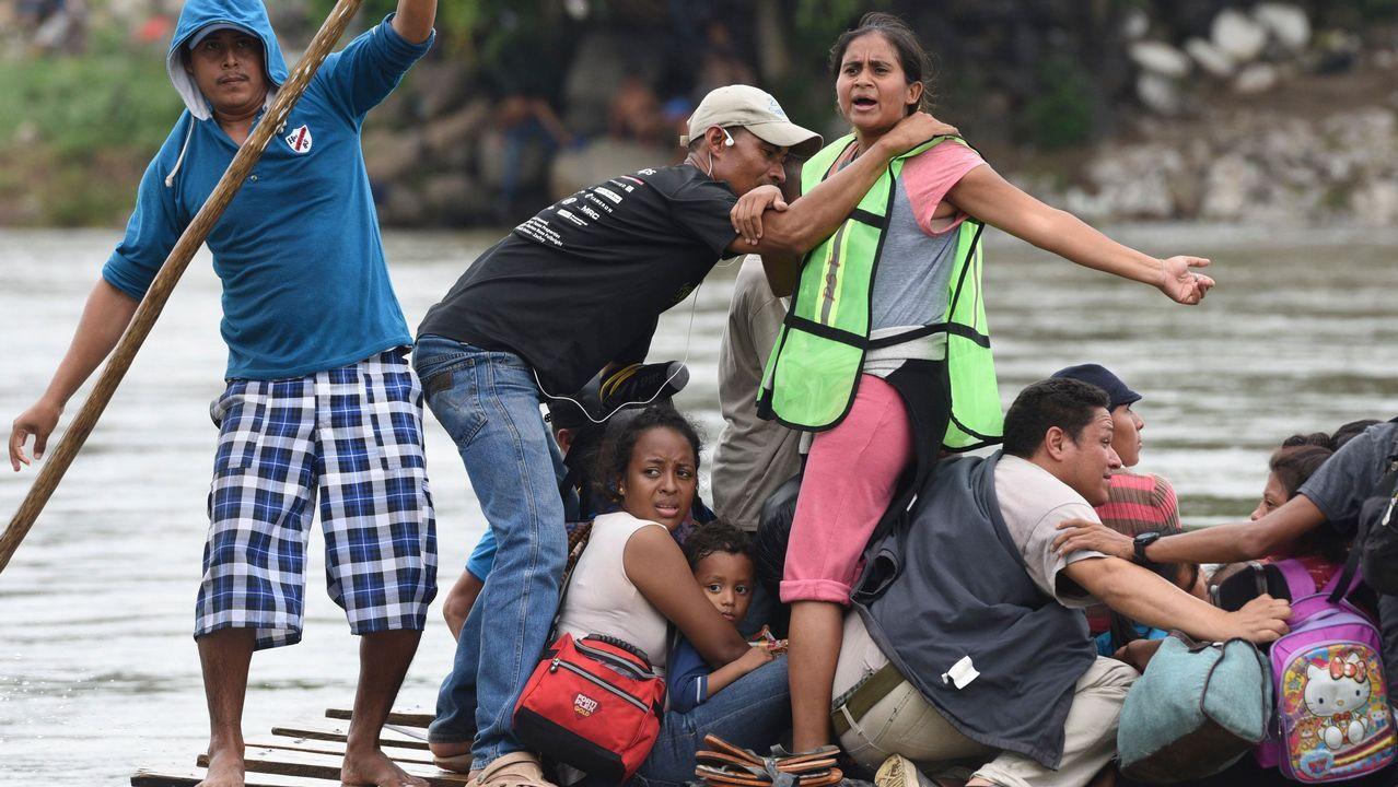 La caravana de inmigrantes hondureños llega a México