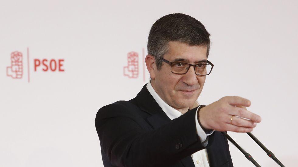 Patxi López: «Me siento con fuerzas para reconstruir el PSOE».Javier Fernández