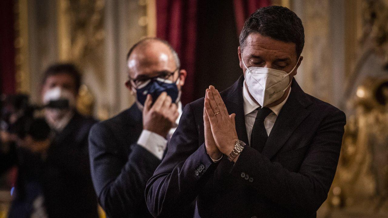 Matteo Renzi, tras reunirse el jueves con Mattarella