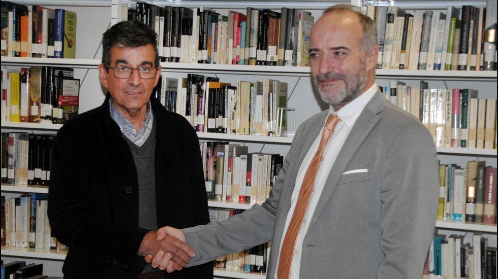 Un paseo en imágenes por Cortes y sus alrededores.El alcalde de Sober y el máximo responsable de la Sgae en Galicia, ayer durante la presentación del acuerdo
