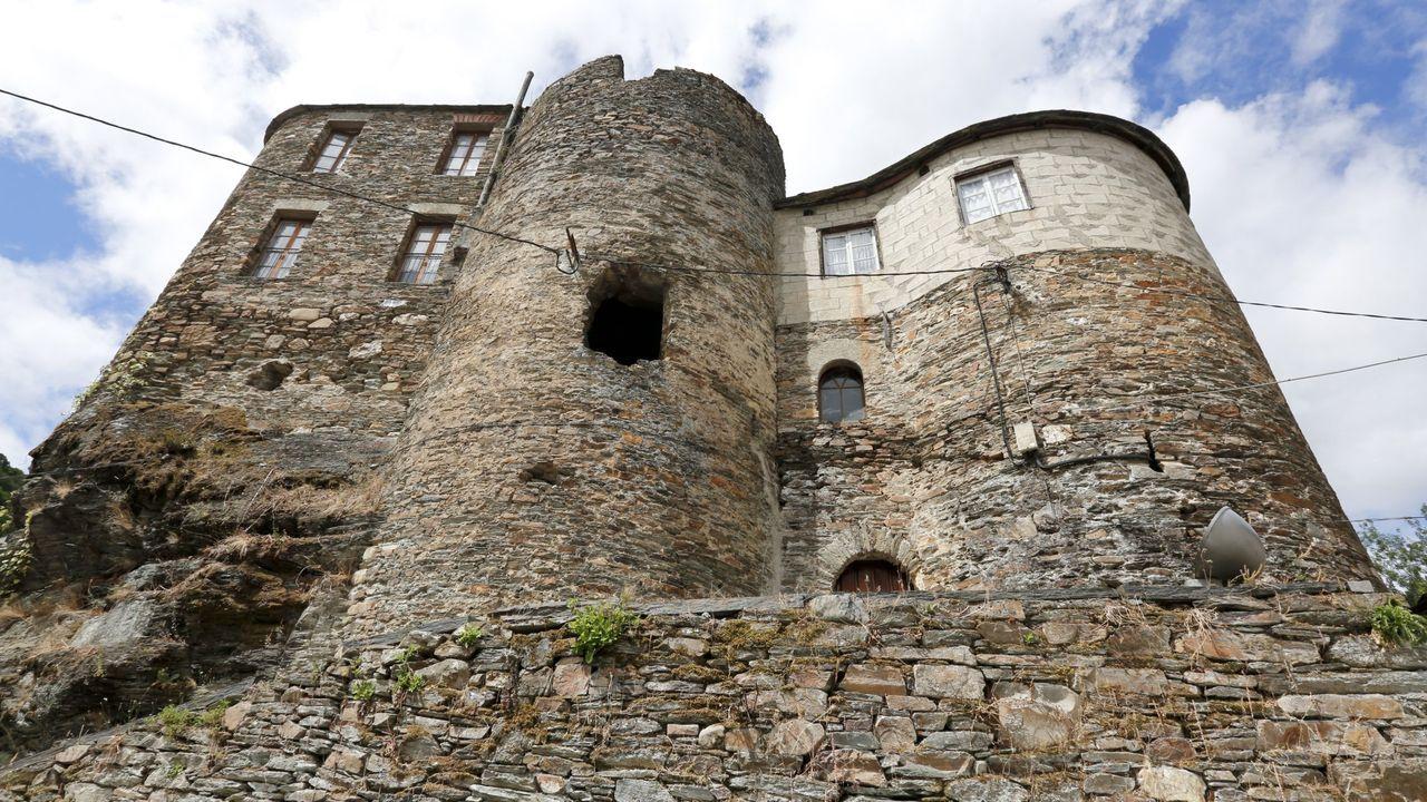 Castillo de Navia de Suarna, en el centro de la villa, y que lleva años en abandono y con una campaña a favor de su recuperación pública
