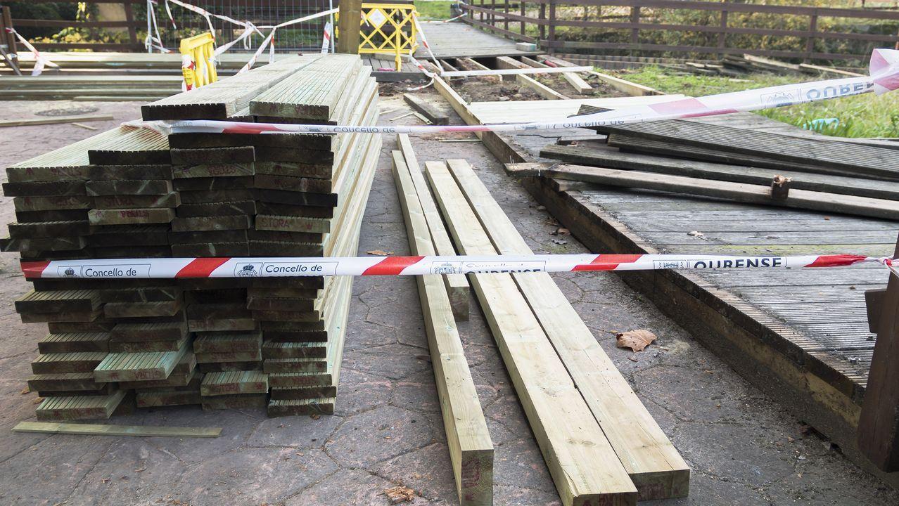 Estado del puente de madera sobre el Barbaña