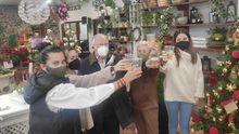 Celebración cuarto premio de Lotería en la floristería El Campo de Villaviciosa