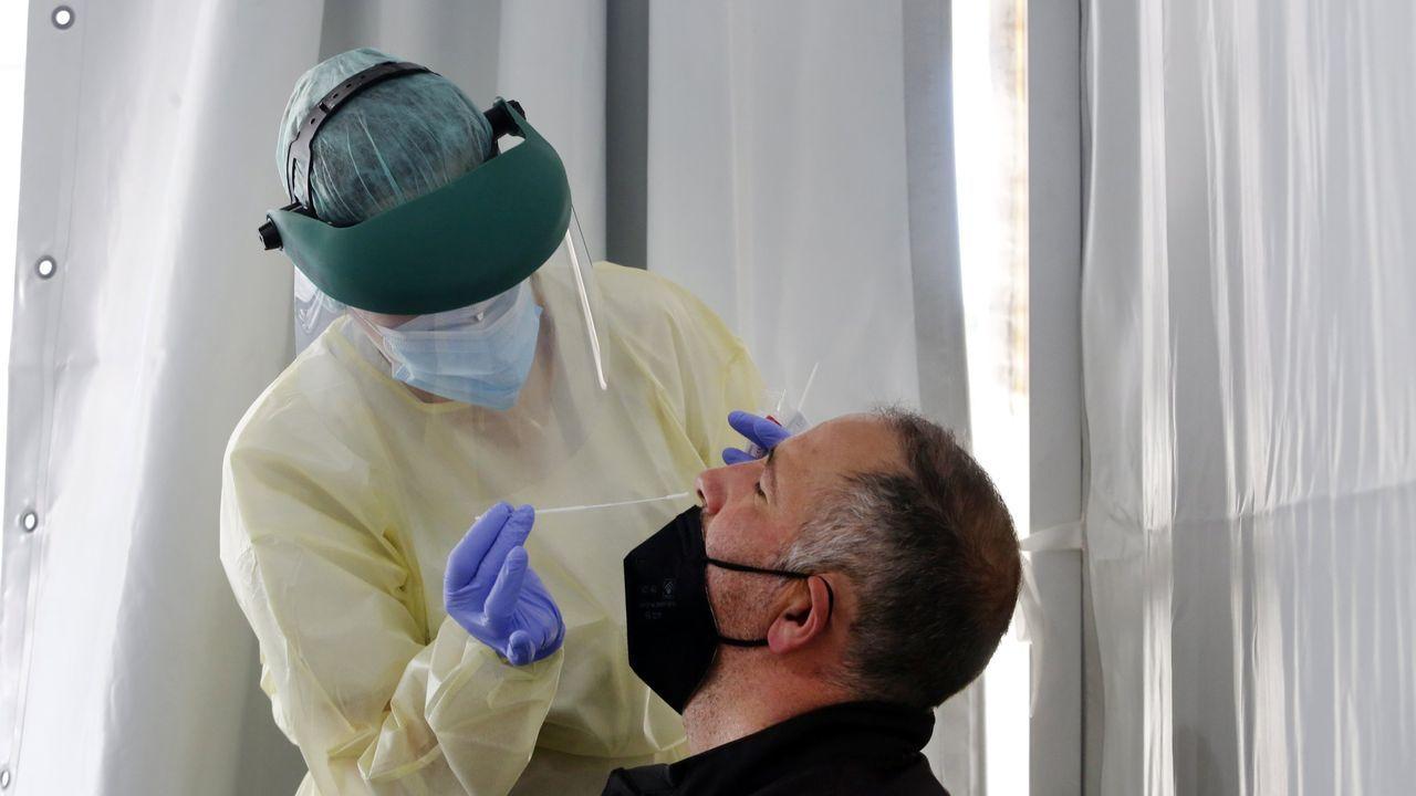 Cribado masivo de coronavirus en Vilanova de Arousa, el pasado mes de abril