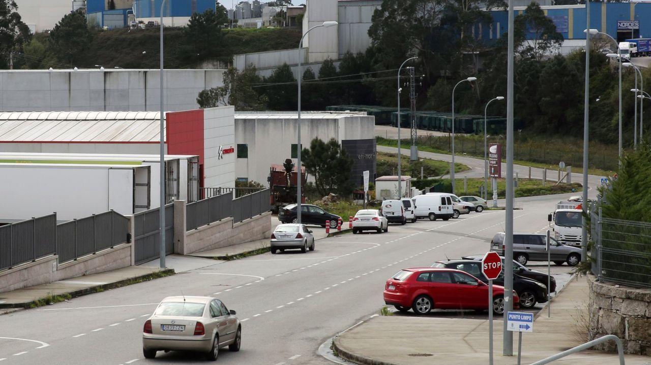 Una terraza de la calle Loureiro Crespo, en Pontevedra