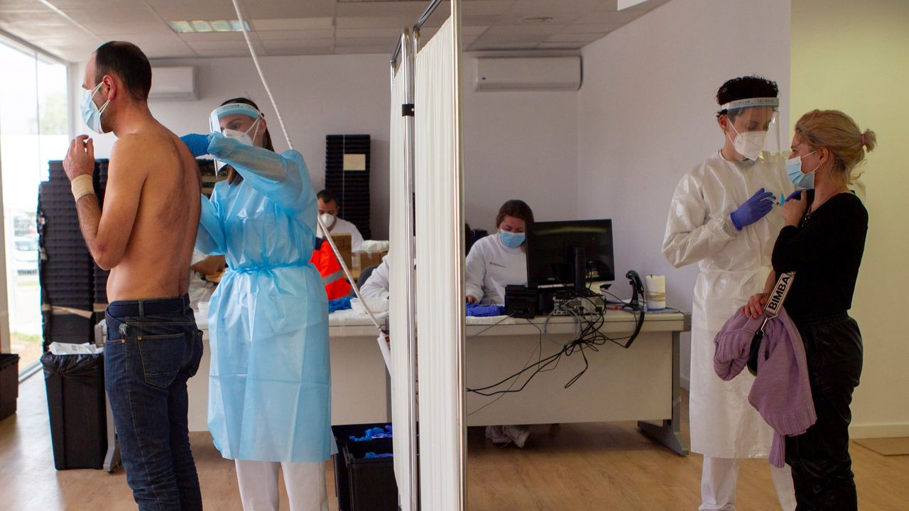 Vacunación en un antiguo hospital de Mallorca