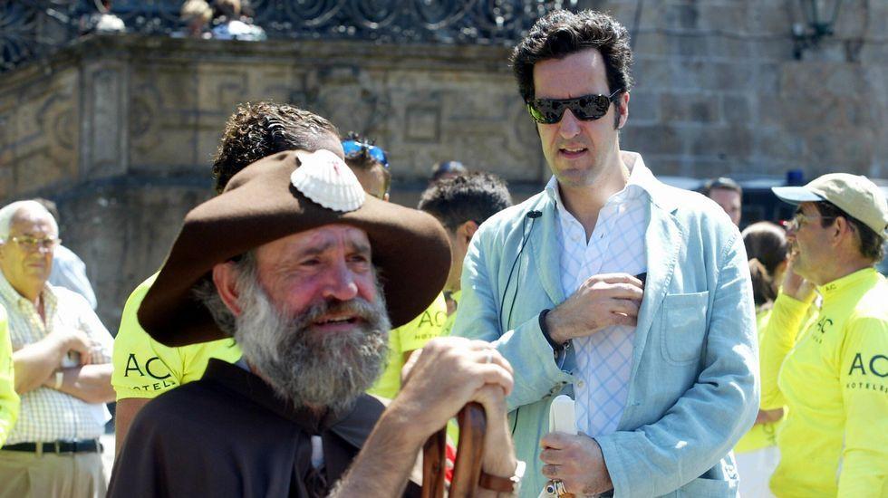 Junto a Jaime de Marichalar un día de sol en Compostela.
