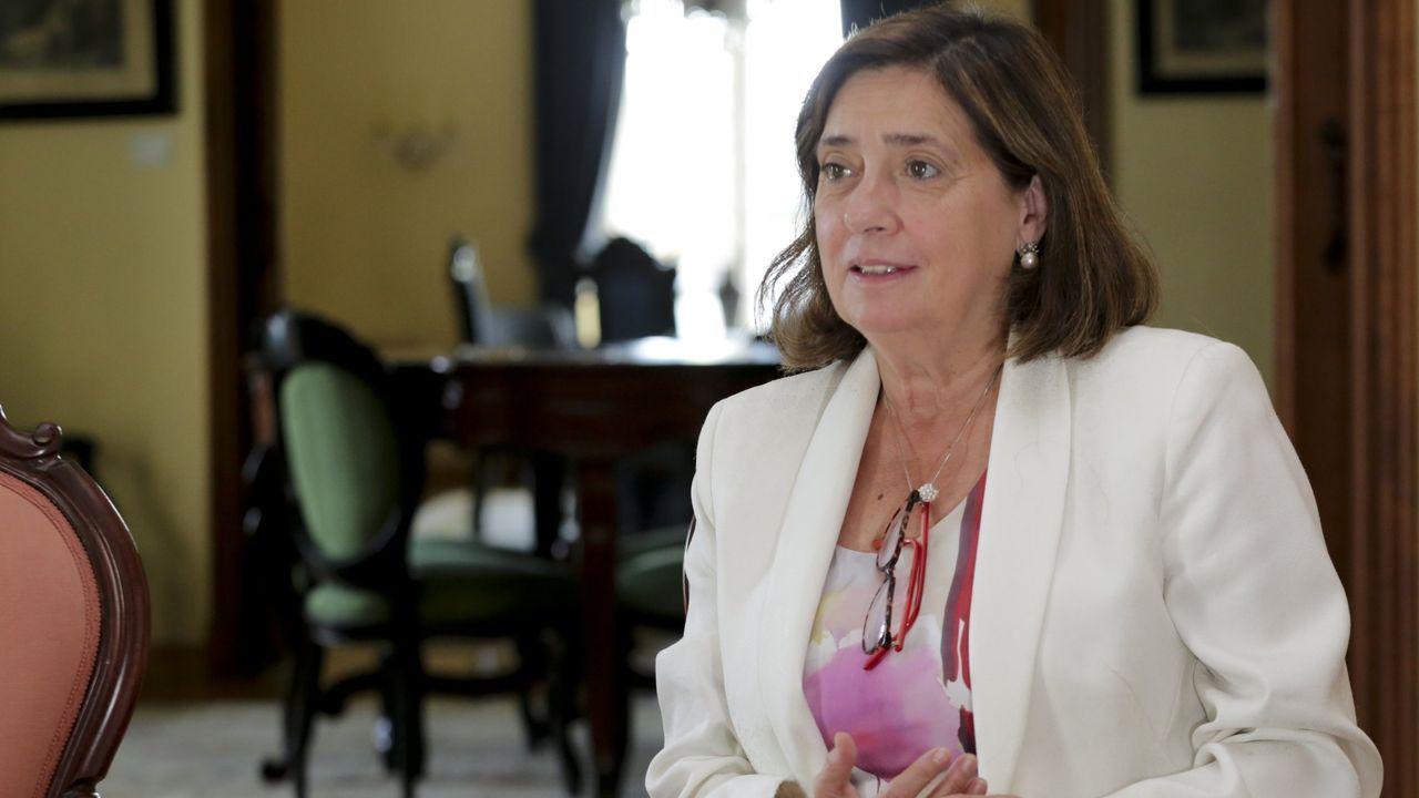 ELVIRA TEJADA DE LA FUENTE, FISCALA DE CRIMINALIDAD INFORMATICA.Elvira Tejada, en el pazo de Mariñán, donde participó en las jornadas de formación de fiscales