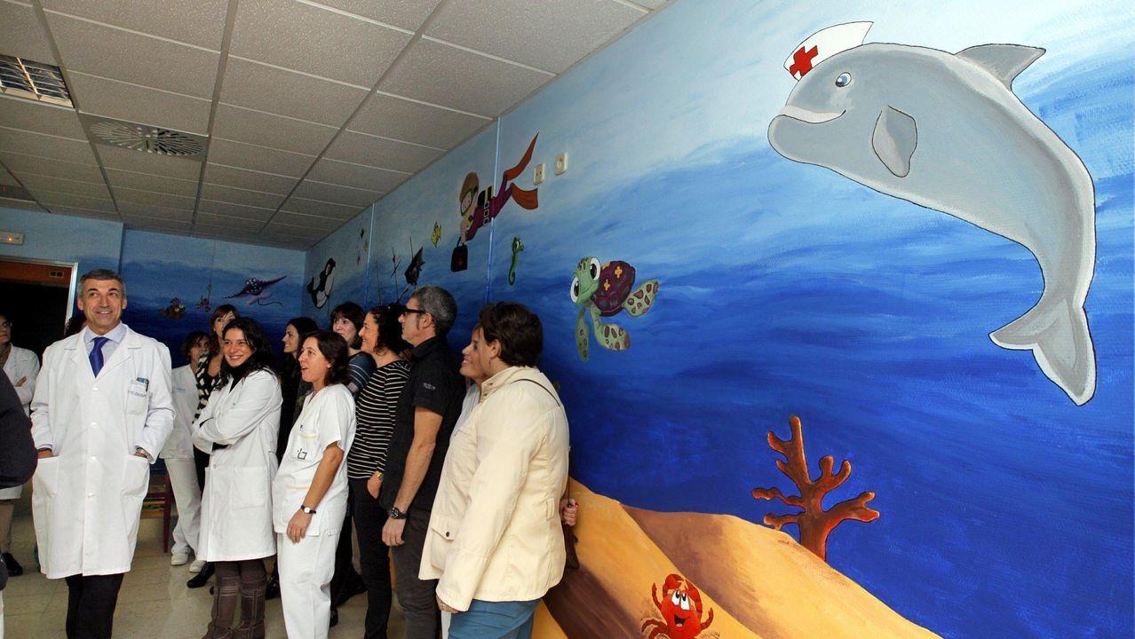 Sala de pediatría del hospital comarcal de Barbanza