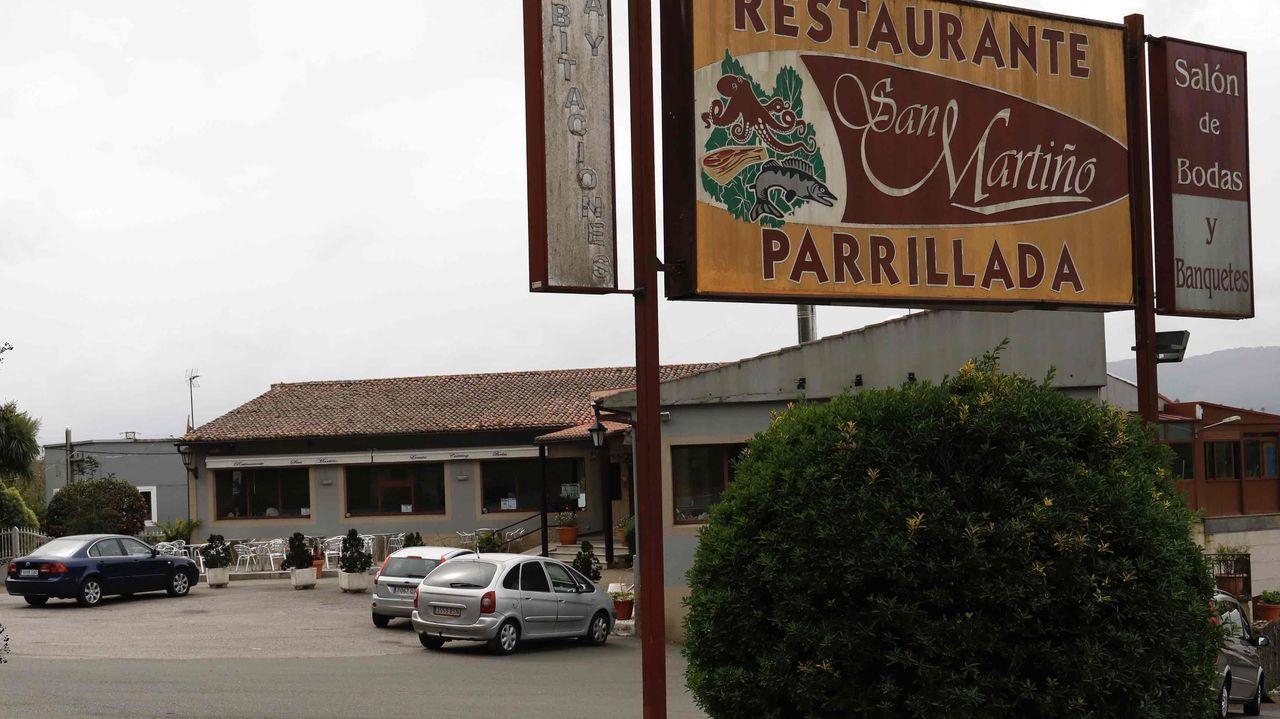 El restaurante San Martiño está situado en Calo (Teo), al pie de la carretera N-550
