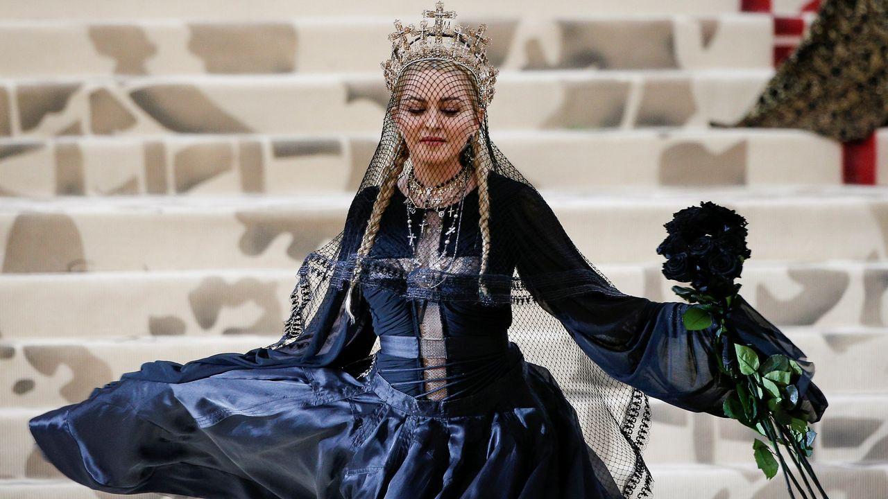 Las imágenes del primer ensayo de Miki.La cantante Madonna