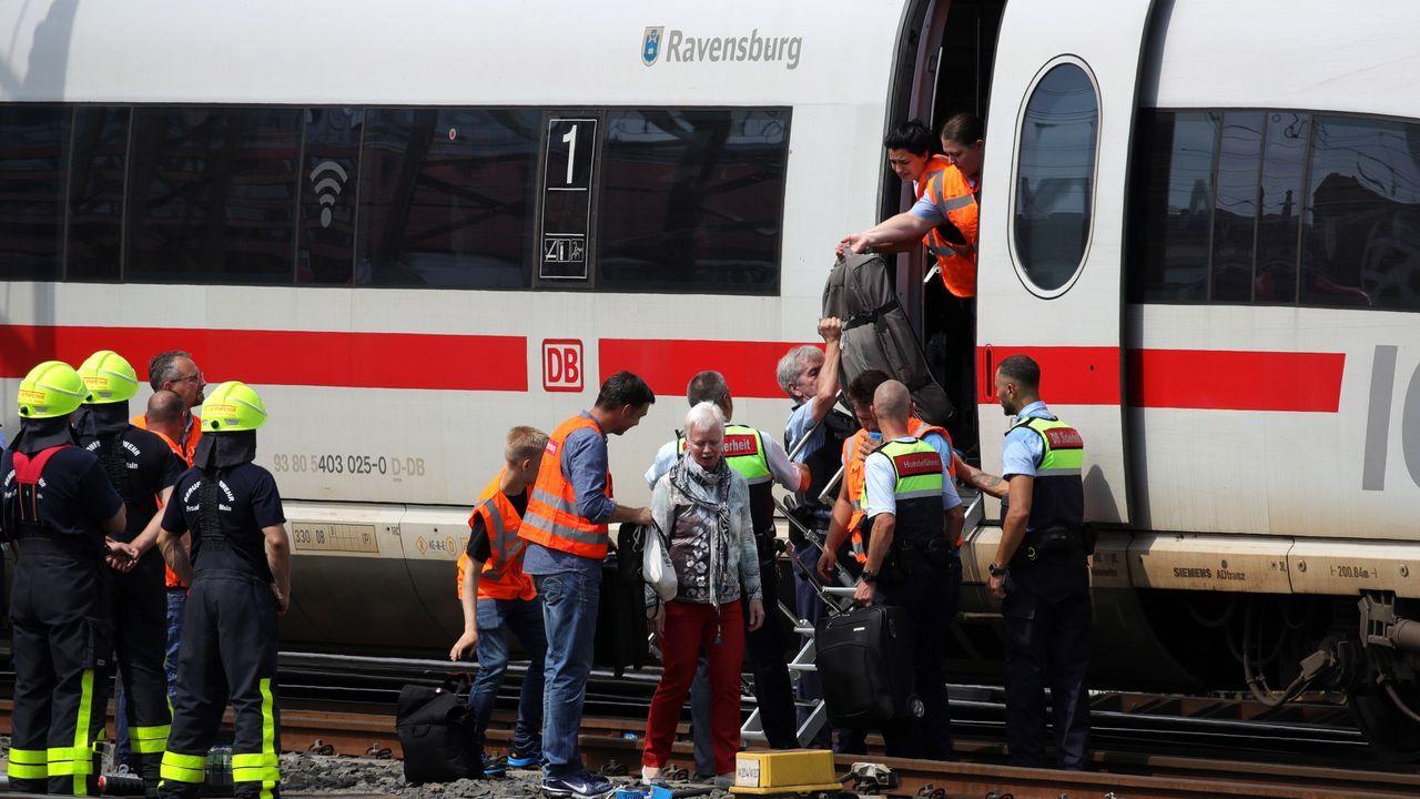 Personal trasladado a la zona del incidente en Alemania