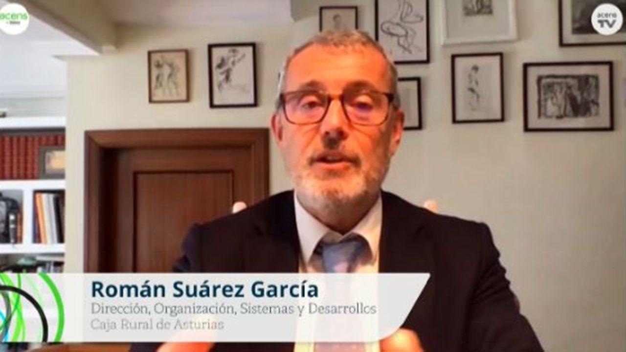 El director de Organización Sistemas y Desarrollos Caja Rural de Asturias, Román Suárez García