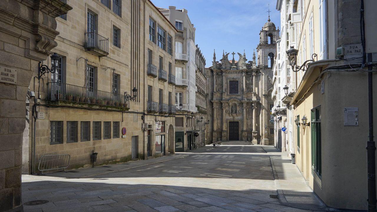 Praza de Santa Eufemia (Ourense).
