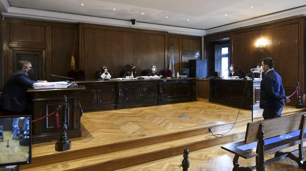 Juicio por violencia de género y abusos contra la mujer, que se celebró en la Audiencia Provincial de Pontevedra