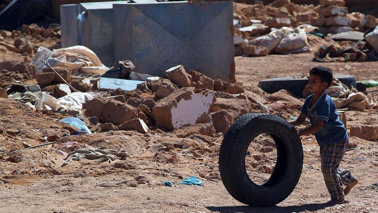 Campamento de refugiados en Tinduf, en el Sahara