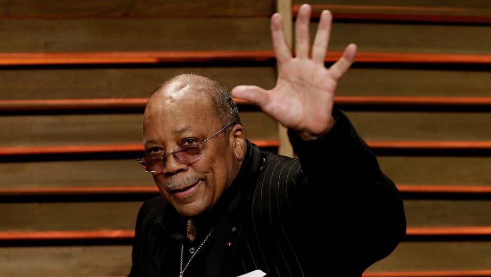 Quincy Jones durante la fiesta de Vanity Fair posterior a los Oscars