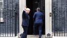 Boris Johnson recibió este viernes a su homólogo hungaro, Viktor Orbán, en Downing Street