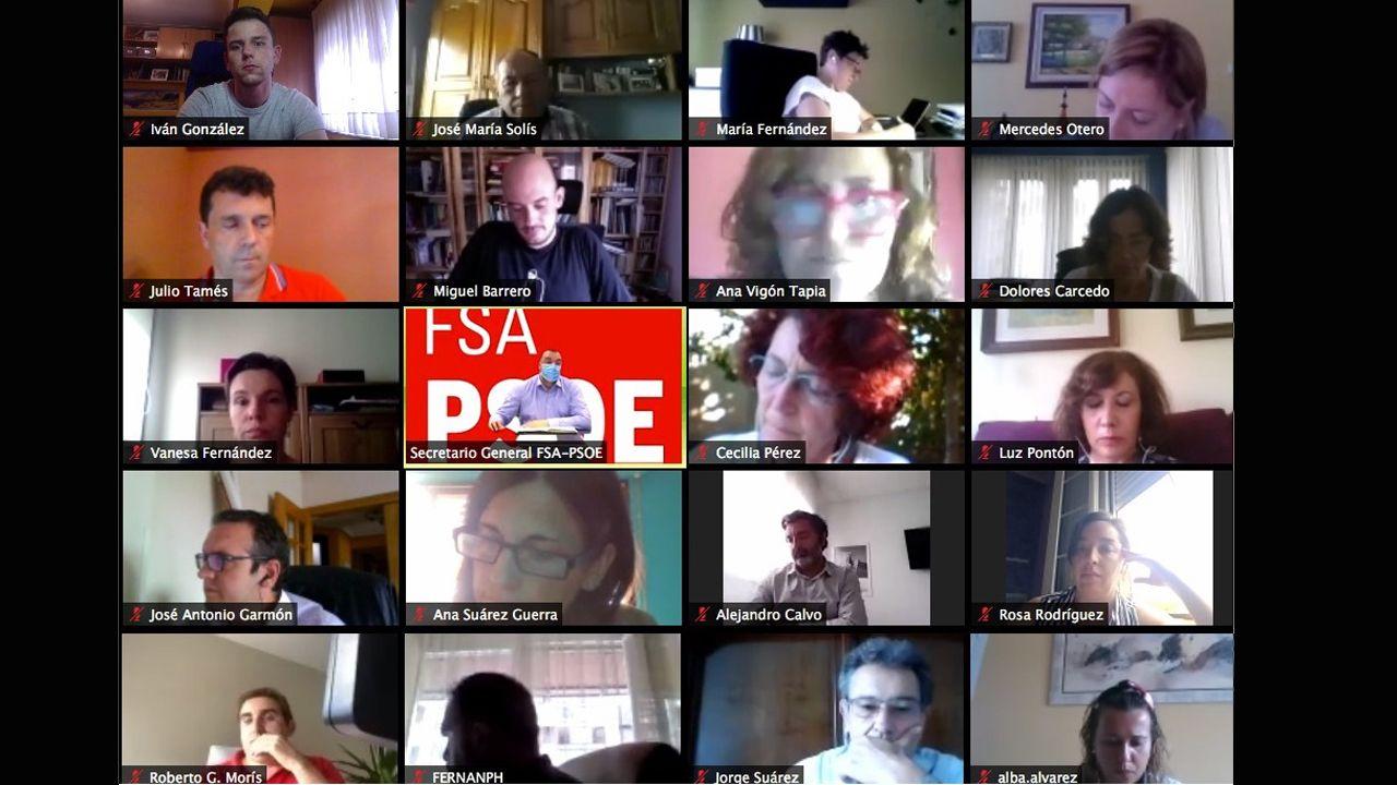 Homenaje en el pozo Funeres (Laviana).Reunión telemática de la Comisión Ejecutiva Autonómica de la FSA