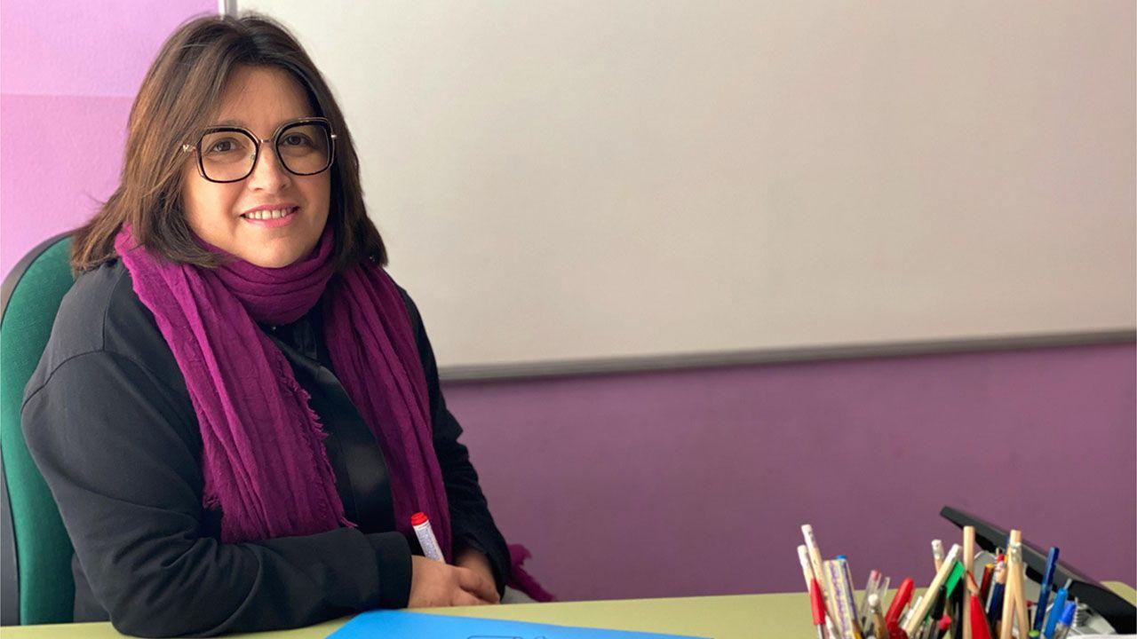 Estación de Autobuses de Oviedo.Liliana García-Riaño, gerente de la academia Antares