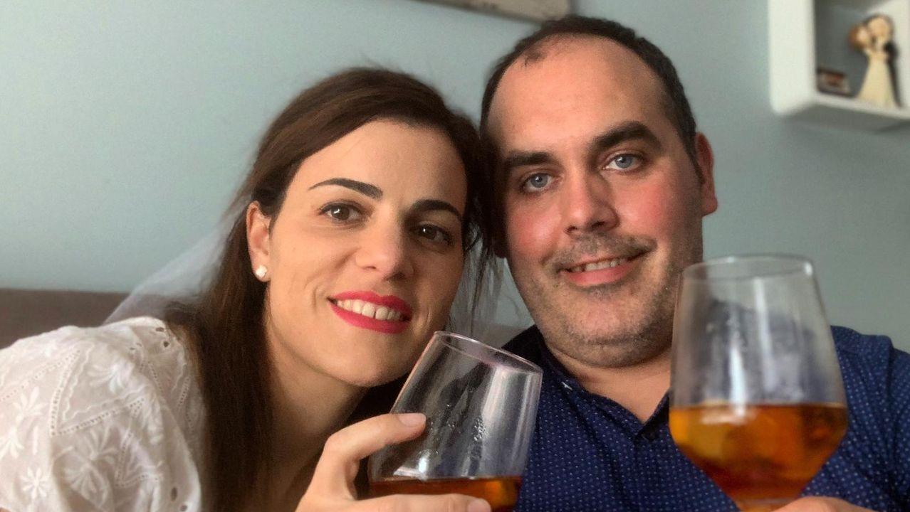 María Barral y su marido en la luna de miel en la Riviera Maya