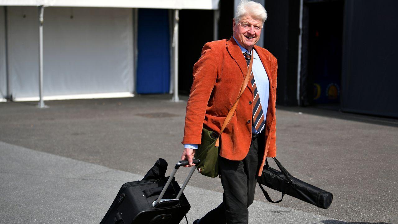 Stanley Johnson, padre de Boris Johnson, en el congreso del Partido Conservador celebrado en junio del 2019