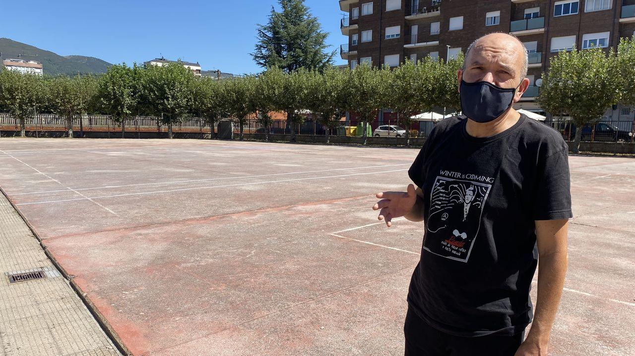 Freixeiro, en el patio del colegio Condesa de Fenosa