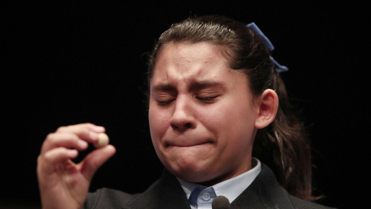 Nerea Pareja, una de las niñas que cantó un quinto premio en el 2019