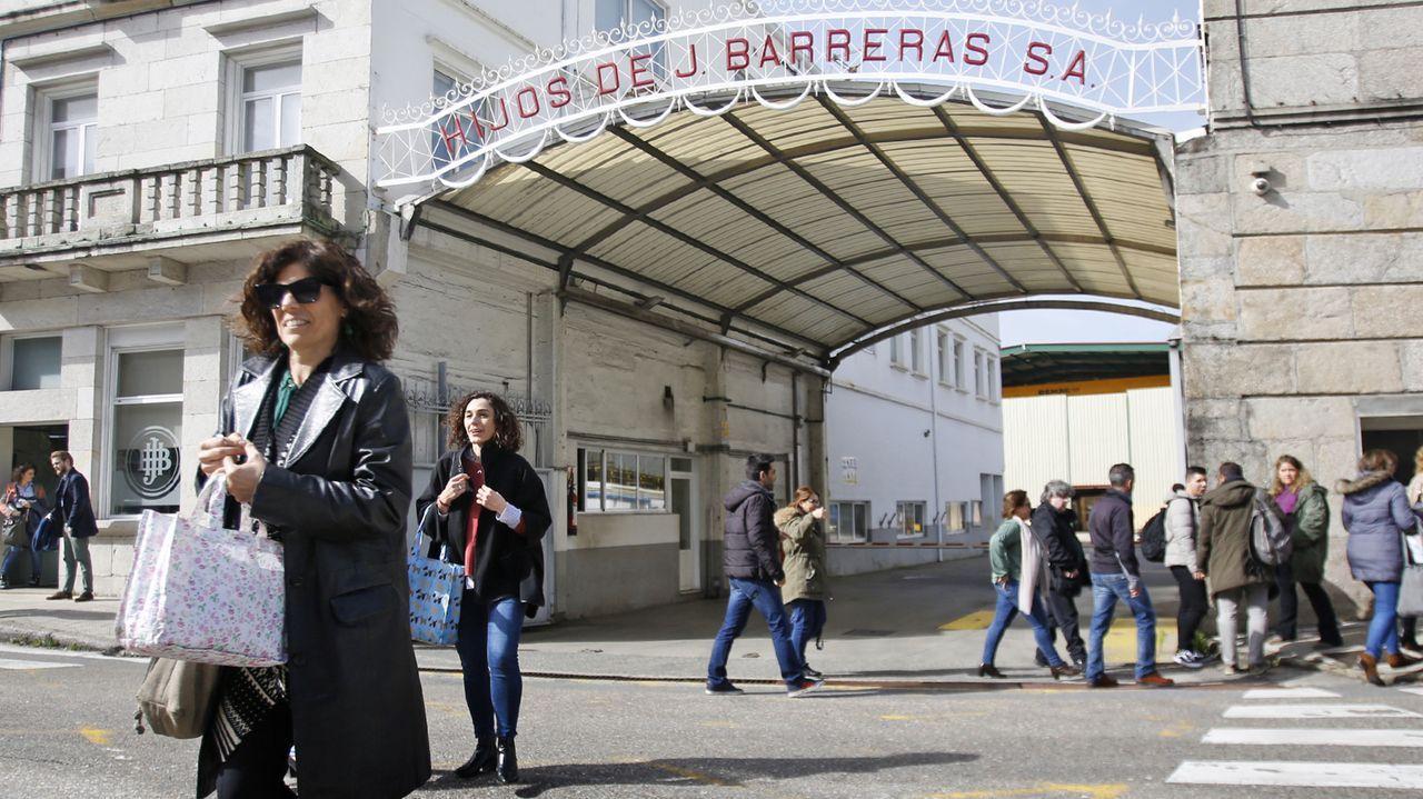 Entrada principal del astillero Barreras, en donde la actividad ayer era mínima