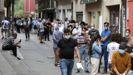 Bares cerrados en la calle de Etxezarreta de Ordicia