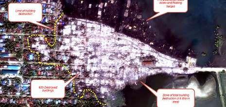 Las imágenes demuestran la destrucción de Kyauk.
