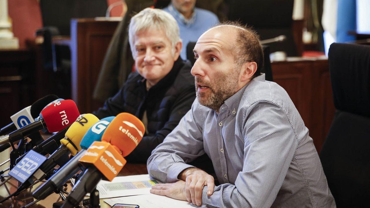 Miguel Caride, con Gonzalo Pérez Jácome