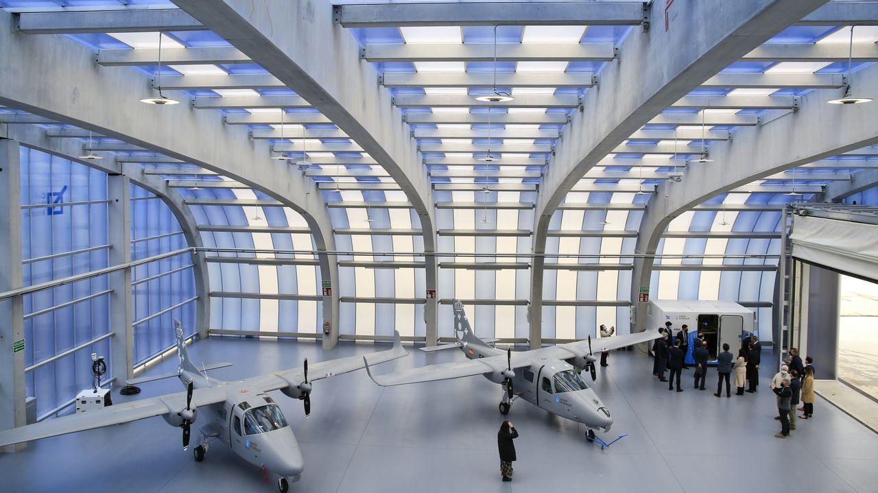 Los hangares e Indra y de Babcock en Rozas se inauguraron en días pasados
