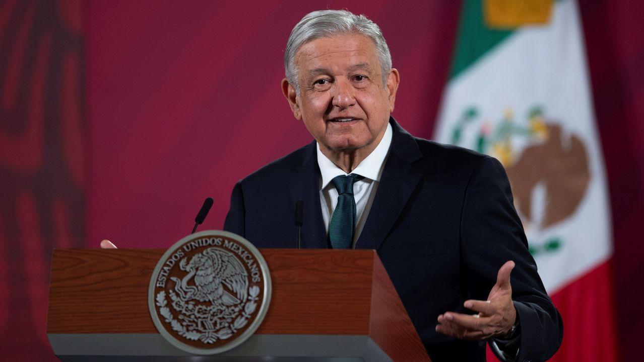 Andrés Manuel López Obrador, en el Palacio Nacional en la Ciudad de México