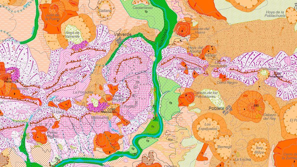 Mapageomorfológico del Campo de Calatrava en Ciudad Real.José Bretón, en una imagen de archivo
