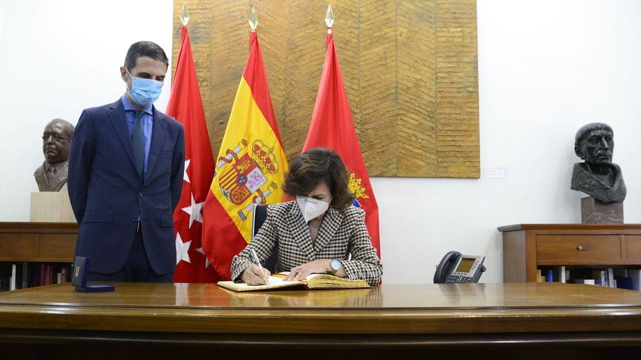 La vicepresidenta Carmen Calvo, en un homenaje a Azaña