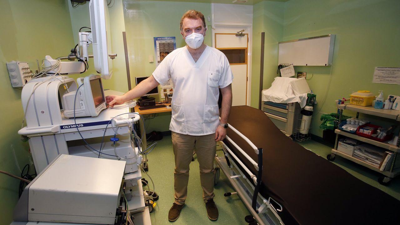 Juan Turnes es coordinador de hospitalización covid, además de jefe de servicio de digestivo del Chop