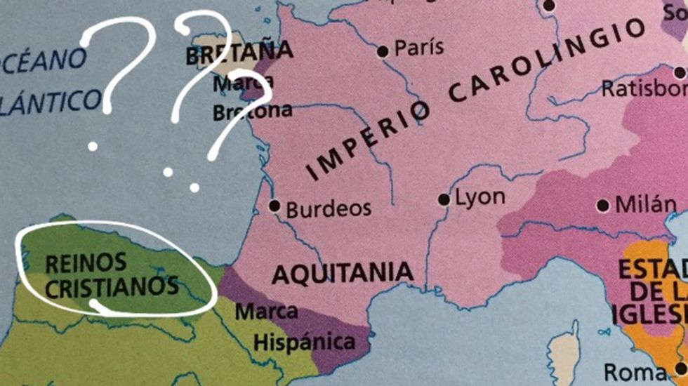 Libro de texto de historia en Asturias (Santillana)