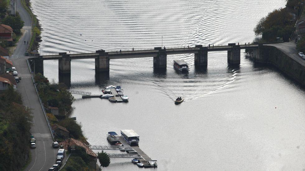 Vista del embarcadero de Belesar, uno de los que dependen de la Diputación, en una imagen de archivo